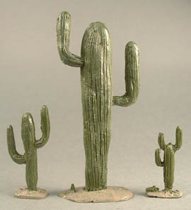 Three of the Set of 4 Cacti