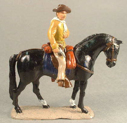 Mounted Cowboy with drawn pistol