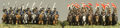 CWB9 British Light Dragoon Cavalry, CWB10 British Lancer Cavalry