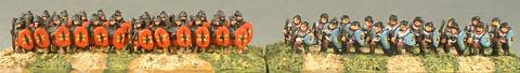 E7 Middle Roman Legionaries, E9 Unarmoured Roman Auxiliaries