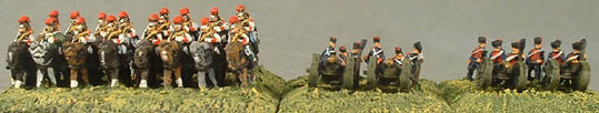 FN16 French Carabiniers, FN21 French Foot Artillery - gun, crew, FN22French Horse Artillery - gun, crew