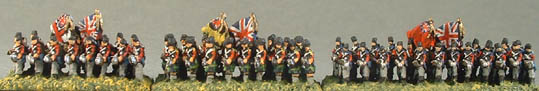 MN27 British 2 rank line Inf block, MN28 Highland 2 rank block, MN29 Guards 2 rank block