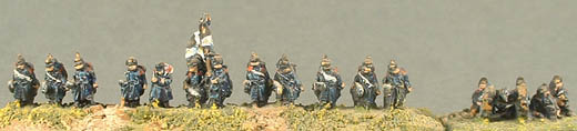 PFP19 Prussian Landwehr Infantry, PFP20 Prussian Landwehr Command, PFP14 Fort Artillery, gun & crew