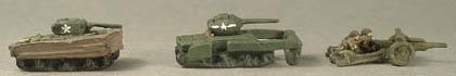 WWTA14 Sherman DD, WWTA15 Sherman Flail, WWTA36 Anti-tank gun and crew