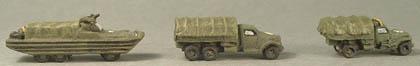 """WWTA28 DUKW, WWTA30 2Å"""" ton Studebaker lorry, WWTA29 GMC lorry"""
