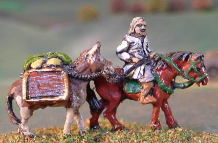 #5 Nils Shankspony - Nouveaux riche peasant on horse with FAN12 Pack Mule
