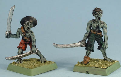 PS27 Pirate zombie with 2 swords, PS26 Pirate zombie