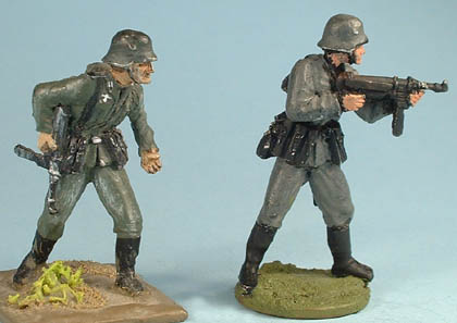 LWGE German Infantry advancing with SMG1 , LWGE 2 German Infantry firing SMG