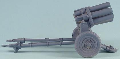 LWGE30 Nebelwerfer 6 barrelled rocket launcher on wheeled carriage