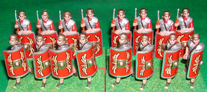 RAP1 Roman Legionary Advancing, RAP5 Roman Legionary Standing with Pilum