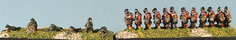 CWB7 Riflemen skirmishing, CWB3 British Highland Infantry