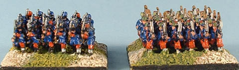 CWF3 French Line Infantry, CWF5 French Zouave Infantry
