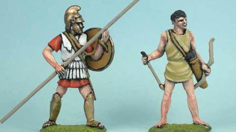 LG11 Hellenistic Light Archer standing, LG5 Hellenistic Light Archer standing