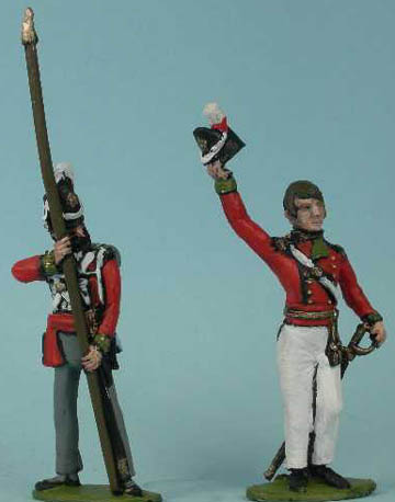 LWNB5 British Line Infantry Standard Bearer, LWNB4 British Line Infantry Officer