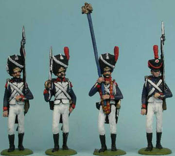 LWNF6 Old Guard Infantry, LWNF8 Old Guard Officer, LWNF9 Old Guard Standard Bearer, LWNF7 Young Guard Infantry