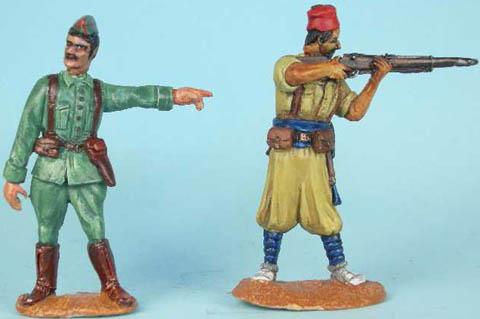 Regular Infantry Officer, Moorish Infantry standing firing